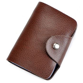 Men Women Split Real Leather Plastic Card Holder Credit Bank Card Case High-capacity Unisex Fashion Casual Set