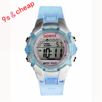 Waterproof Children Girls Digital LED Quartz Alarm Date Sports Wrist Watch Brand New Luxury 0717