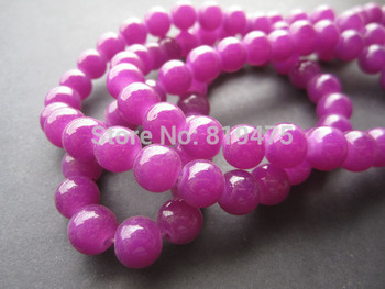 6mm 8mm  Glass beads Round Simply Purple Color for jewelry making