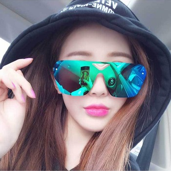 New Ultra-light Big Square Sunglasses Women Brand Designer Coating Mirror Oversize Sun Glasses Men Driving Sunglasses UV400