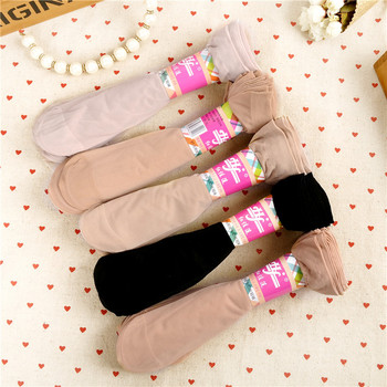 New Summer Style Solid Black Skin Colors Quality Stereotype Women Silk Socks Cool Breathable Sexy Sock