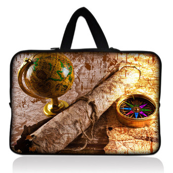 "Retail Sale Map and Compass 14"" 14.1"" Neoprene Laptop Carrying Bag Sleeve Case Cover Holder+Hide Handle For Dell Alienware M14x"