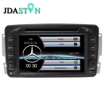 JDASTON Üst Meslek 2 Din 7 inç Car DVD Player Mercedes Benz W209/W203/W168/M/ML/W163/W463/Viano W639 Vito RADYO GPS TSK